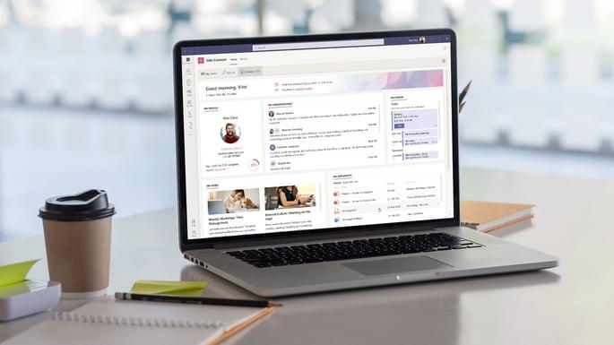 Connect Me als personalisierter Einstiegspunkt in Microsoft Teams, Bild: Valo